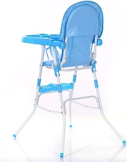 MOMOJA Trona plegable con bandeja desmontable Altura del asiento ...