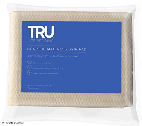 Mattress Pad Bedding (TRU Lite Bedding Non Slip Mattress Grip Pad - Keeps All Mattress Types In Place For a Great Night's Sleep - Ideal For Platform Bed or Futon - Easy and Simple Fit - King Size - Rug Pad for 6' x 7' Rug)