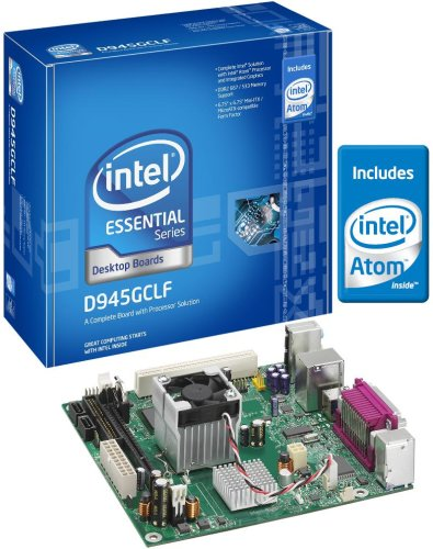 Intel D945GCLF Essential Series Mini-ITX DDR2 667 Intel Graphics Integrated Atom Processor Desktop Board - (Integrated Atom Processor)