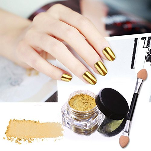 How Does Powder Nail Polish Work: CINEEN 7 Colors Mirror Powder Set Nail Art Chrome Effect