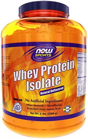 NOW Foods Sports Whey Protein Isolate Natural Unflavored — 5 lbs