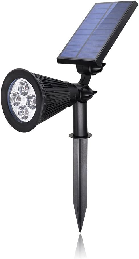 Proyector solar de 4 LEDs, luz solar impermeable exterior de ...
