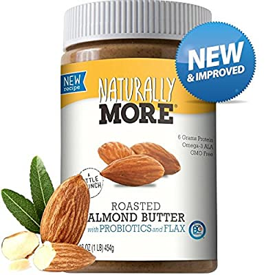 Naturally More All Natural Roasted Almond Butter w/ Probiotics 16 oz. from Ready Roast Nut Co.