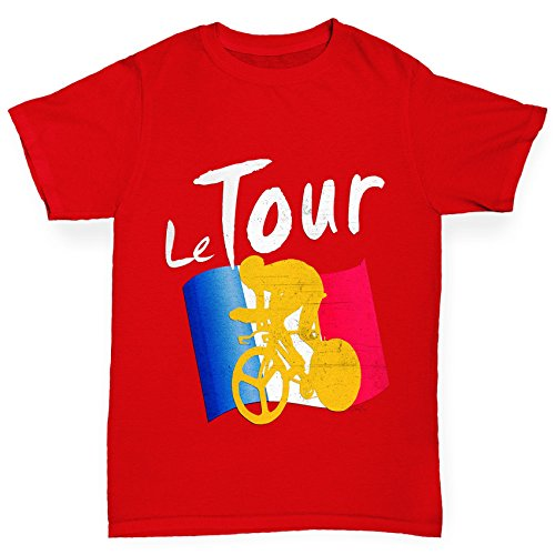 - TWISTED ENVY Boy's Cycling Le Tour Red T-Shirt Age 9-11