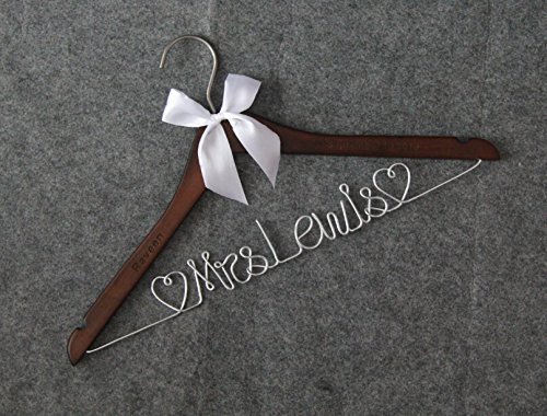 Wedding Hangers-Custom Name wit heart Personalized Bridal Dress Hanger Gifts for Bride Mother of the Bride's Gifts gifts for groom