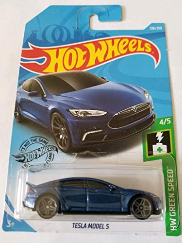 Hot Wheels 2019 HW Green Speed Tesla Model S 226/250, Blue
