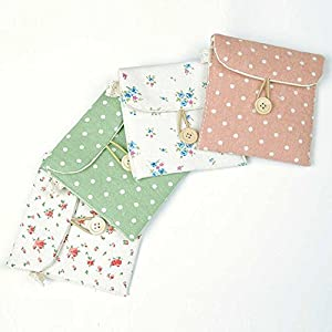 Women's Linen Sanitary Napkins Organizer Pouch Holder Case 4 Bundle