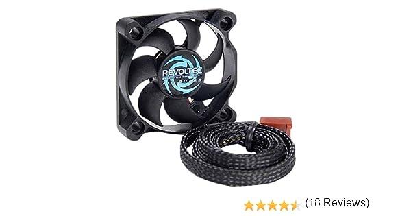 Revoltec Airguard 50 Carcasa del Ordenador - Ventilador de PC (Carcasa del Ordenador, 25,84 dB, Negro, 50 x 50 x 10 mm, 7-12V, 3-Pin): Amazon.es: Informática