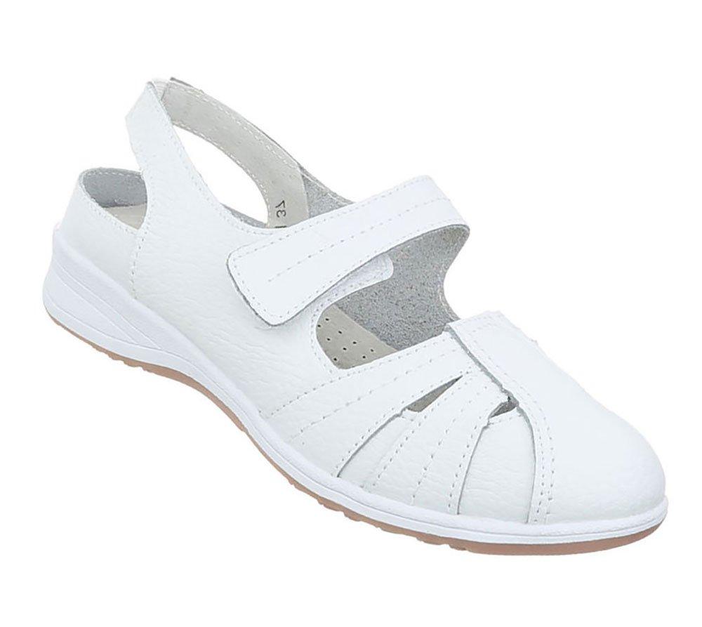 Damen Schuhe Sandalen Leder Klettverschluszlig;37 EU|Modell Nr1wei?