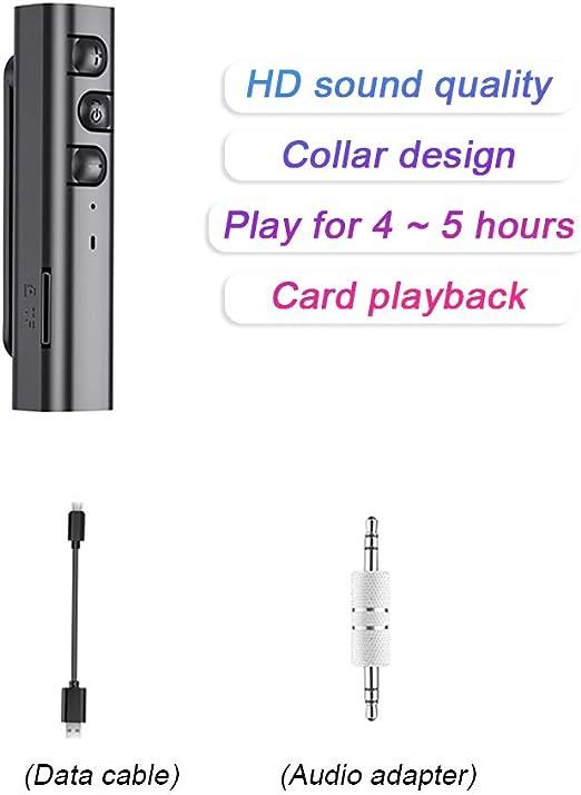 Reproductor de MP3 Bluetooth 5.0 con Interfaz de 3.5 mm hasta 64 GB Mini Walkman port/átil HiFi