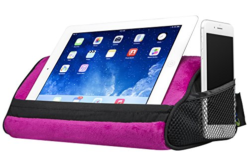 LapGear Travel Tablet Pillow, Tablet Stand - Pink (Fits up to  10.5
