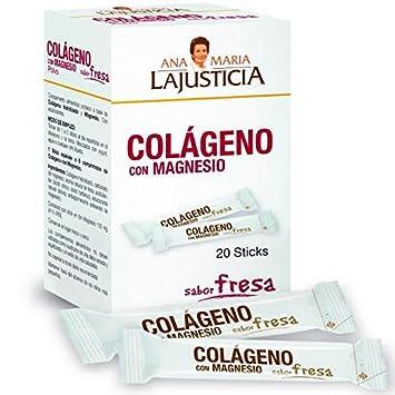 Ana Maria La Justicia - Colágeno con Magnesio, 20 Sticks Sabor Fresa: Amazon.es: Salud y cuidado personal