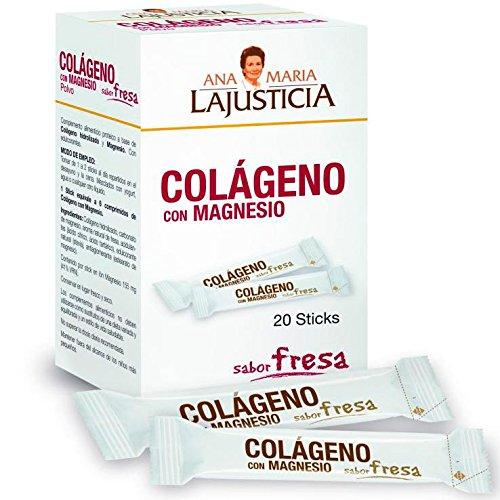 ANA MARIA LAJUSTICIA COLAGENO con MAGNESIO sabor fresa 20sticks