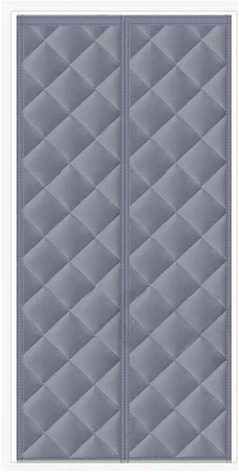 MODKOY Cortina térmica magnética para Puerta 150 x 210 cm, algodón del Invierno Cortina de Puerta, Insonorizar contra frío Plegable Durable, para Habitaciones,Cocina - Gris