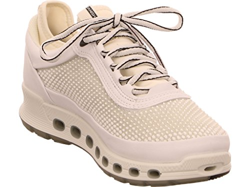 Ecco  842503-50874, Chaussures de ville à lacets pour femme Blanc/blanc