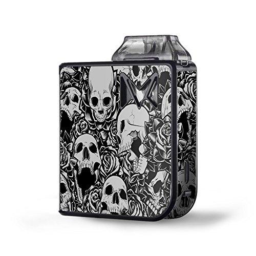 (Skin Decal Vinyl Wrap for SV Mi-Pod kit Vape skins stickers cover / Skulls n Roses Black White Screaming)