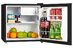 midea WHS-65LB1 Compact Single Reversible Door Refrigerator and Freezer, 1. 6 Cubic Feet, Black.