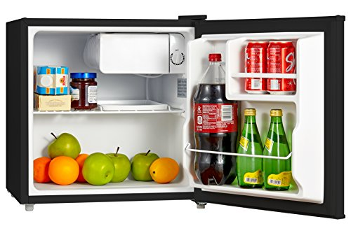 act Single Reversible Door Refrigerator, 1.6 Cubic Feet(0.045 Cubic Meter), Black ()