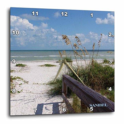 3dRose dpp_30727_2 Sanibel Beach Awaits Wall Clock, 13 by - Outlet Sanibel