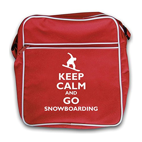 Retro Go Black and Snowboarding Keep Red Flight Bag Calm xzgqRRI