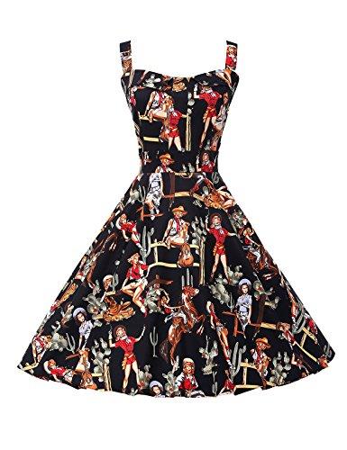 Womens Floral Vintage Cocktail Dresses