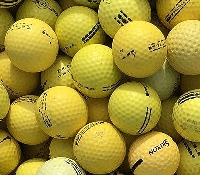 Range Practice Yellow D Golf Balls in D Condition