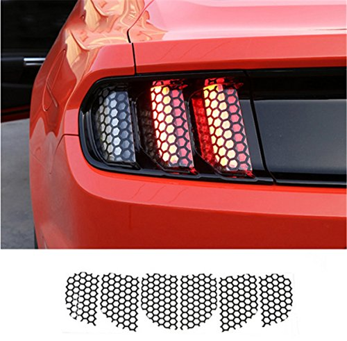Honeycomb Mustang - JDopption Car Exterior Accessories Rear Tail light Lamp honeycomb Stickers For Ford Mustang 2015 Up