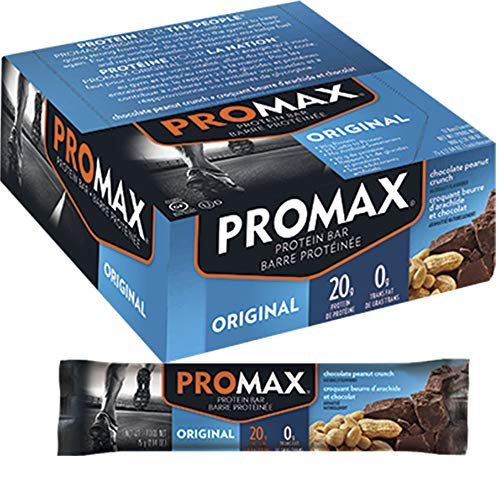 Promax Energy Bar Chocolate Peanut Crunch 12 - 2.64 oz (75 g) Bars [31.68 oz (900 g)]