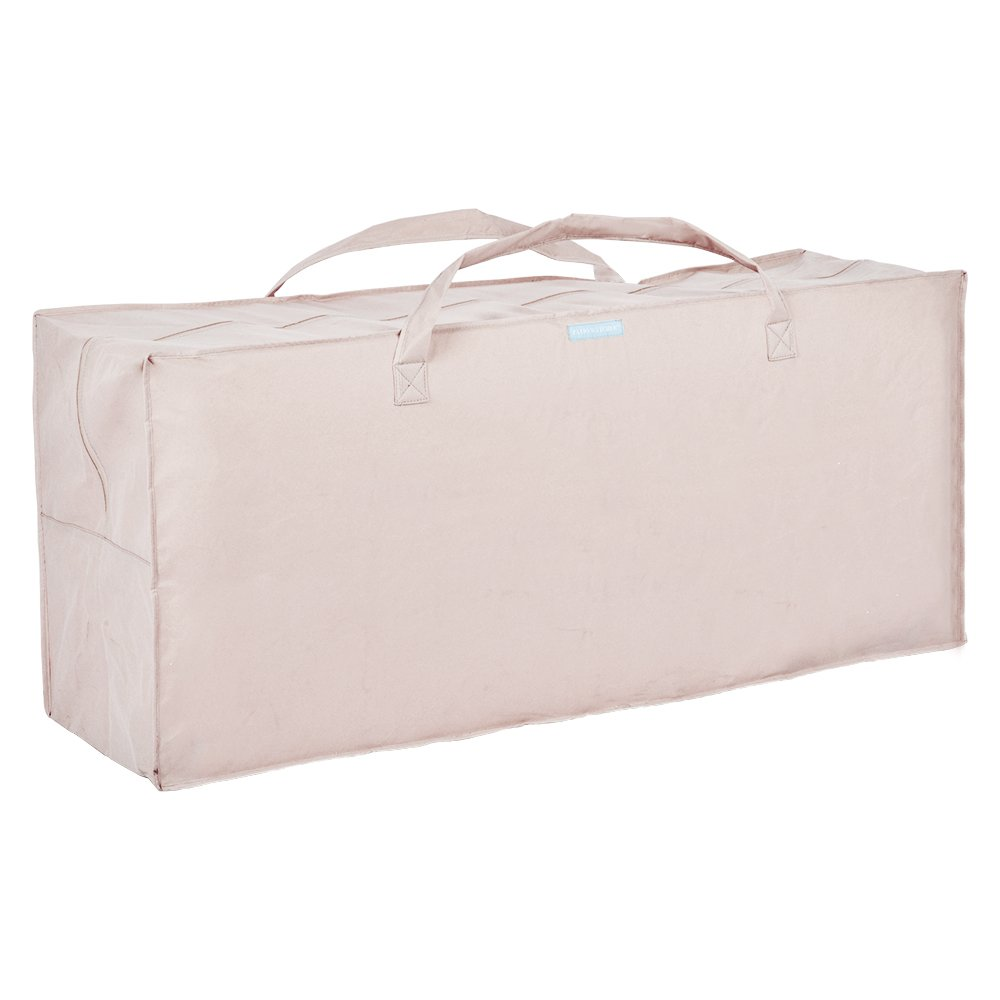 Patio Watcher Cushion Storage Bag Heavy Duty Zippered and Water Resistant Cover Storage Bag,Beige