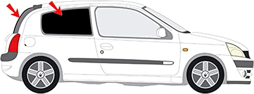 2009 Solar Screen Passgenaue T/önungsfolie Renault Scenic III Jm 5-T/ürer Bj Black 65
