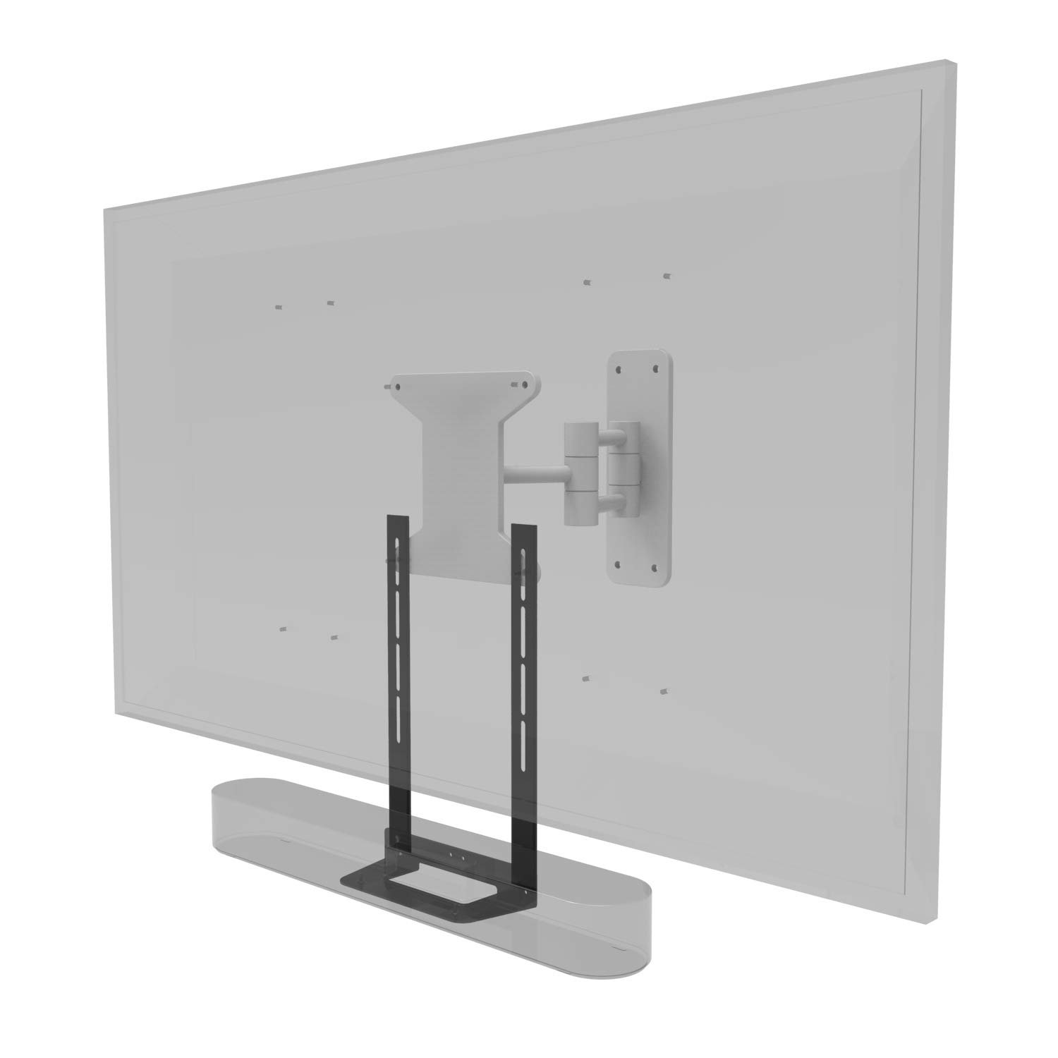 Soundbass Beam TV Mount, Black, Compatible with Sonos Beam Mounting Bracket for TV, Full Hardware Kit Included, Beam Soundbar, Designed in The UK by Sound Bass