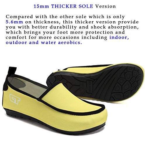 Slip Girl's On Skin Sports FANTINY Surf Comfortable Driving Pool Shoes For Women's Walking Barefoot Yellow Loafers Swim Beach Multifunctional XnS80