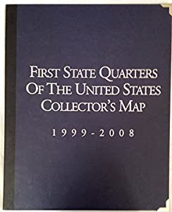 Amazoncom First State Quarters Of The United States Collectors - Us map for collecting quarters