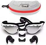 Zoma Swimming Goggles 2.0 with Anti Fog Swim Technology – 3 Piece Adjustable Nose Bridge for Perfect Comfortable Fit for Men, Women and Kids