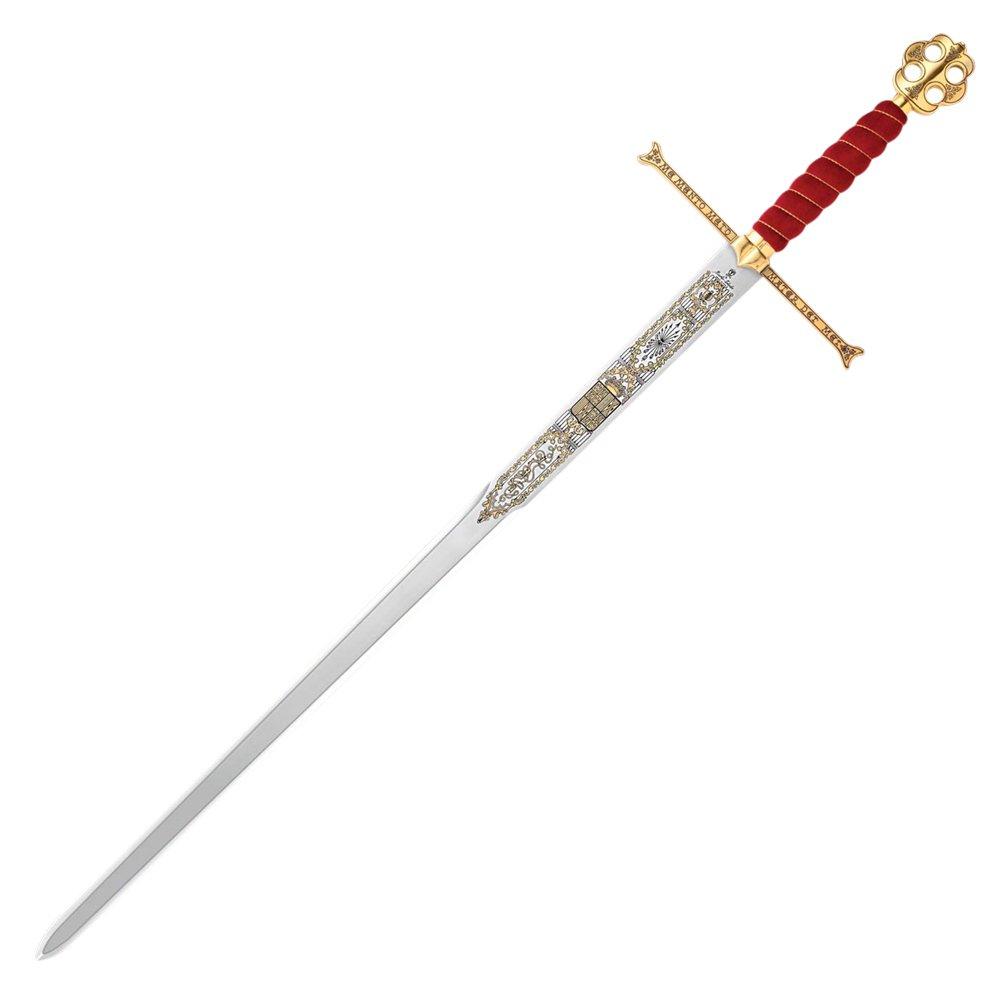 Edward III of England Templar Cross Longsword Replica Full Tang Sword