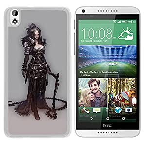 Unique DIY Designed Cover Case For HTC Desire 816 With Gothic Warrior Girl Fantasy Mobile Wallpaper (2) Phone Case