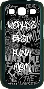 World's Best Punk Mom- Case for the Samsung Galaxy S III-S3- Hard Black Plastic Snap On Case wangjiang maoyi by lolosakes
