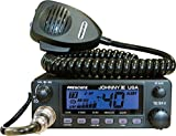 President Johnny III USA 40 Channel CB Radio 12 or 24V, Black For Sale