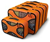 Shacke Pak - 5 Set Packing Cubes - Medium/Small – Luggage Packing Travel Organizers (Mandarin Orange)