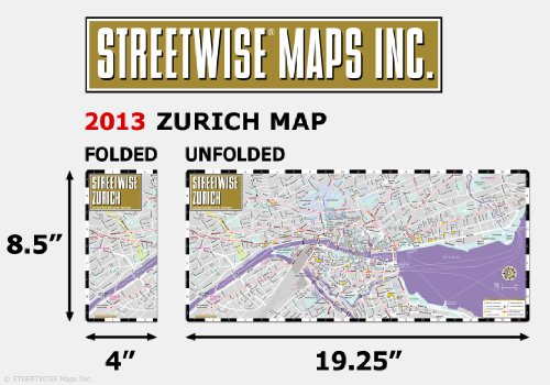 Streetwise Zurich Map - Laminated City Center Street Map of - Import on switzerland on europe map, zurich germany on map, zurich city map,
