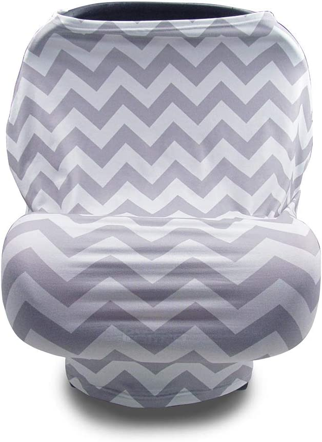 Breastfeeding Cover Infinity Nursing Cover Scarf with Pockets,Breathable Cotton Mum Breastfeeding Apron Shawl Baby Car Seat Cover Newborn Baby Swaddle Blanket Black//White