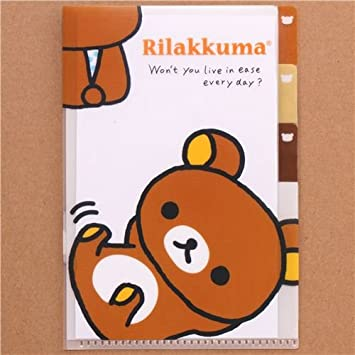Mini carpeta plástico kawaii 3 bolsos oso marrón Rilakkuma: Amazon.es: Juguetes y juegos