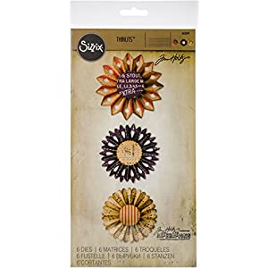 Sizzix 662691 Thinlits Die, Rosette Set by Tim Holtz (6 Pack), Multi