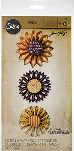 Sizzix 662691 Thinlits Die Rosette Set by Tim Holtz (6 Pack), Multi by Sizzix