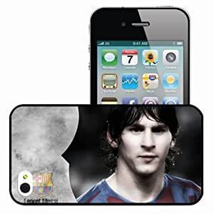 Personalized iPhone 4 4S Cell phone Case/Cover Skin Of messi Black