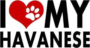Havanese I Love My Dogs Sticker Heart Puppy Pet Cute Animals Decal Vinyl Bumper DÉCOR CAR Truck Locker Window Wall Notebook