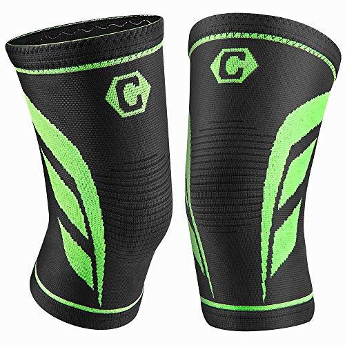 Mid Night,XX-Large Arthritis Knee Compression Sleeve Support for Men and Women Sports Home Gym Running ACL Hiking CAMBIVO 2 Pack Knee Brace Meniscus Tear