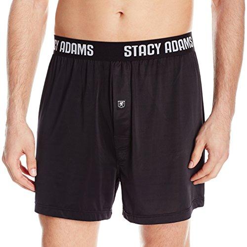 Stacy Adams Men's Boxer Short, Black, - Spandex Sheer Boxers