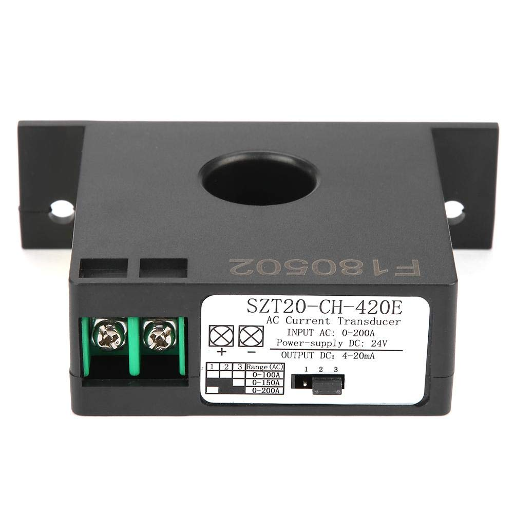 Current Transducer, SZT20-CH-420E Current Transducer Transmitter Transformer Sensor AC Current Converter 0-200A