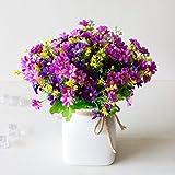 cooayz dyz Blue Simulation Daisy Jump Artificial Flower with Silk Flower Bouquet